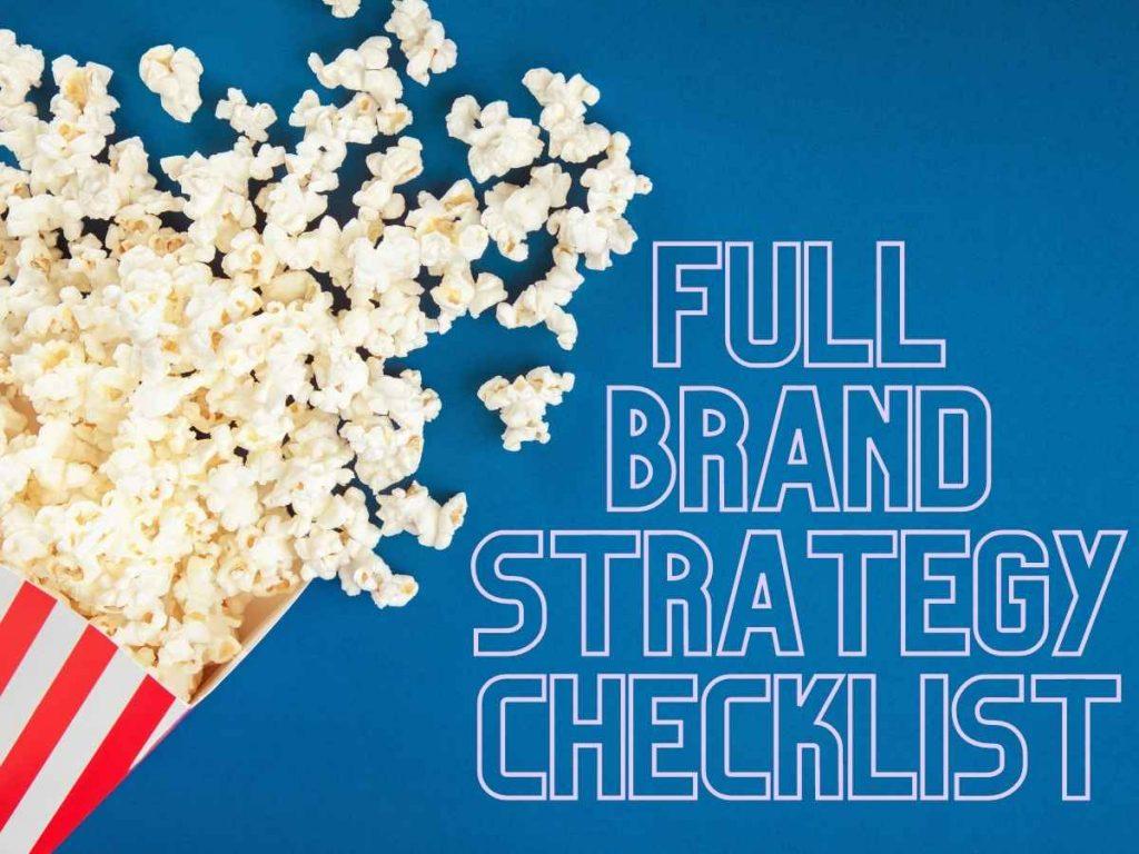 Full Brand strategy checklist